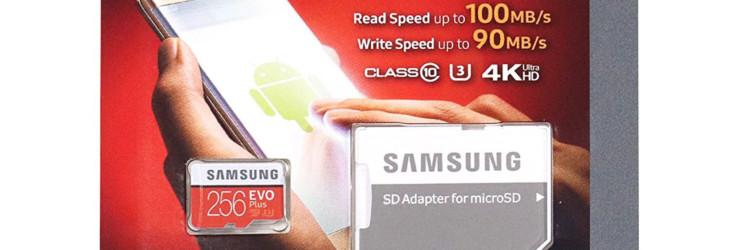 Tarjeta microSD Samsung EVO Plus en oferta